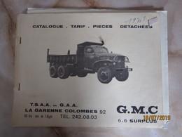 Catalogue GMC De Tsaa à LA GARENNE COLOMBES  -----------------------19 Meni - Vieux Papiers