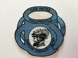 MARCHE CHARLES QUINT 1000PATTES PHILIPPEVILLE»écusson Brodé (10 X 10 ) - Ecussons Tissu