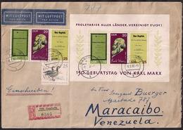 DDR - 1968 - Brief - Venezuela - [6] República Democrática