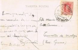 33391. Postal PALMA De MALLORCA 1930. Vapor Correo Baleares - Barcelona - 1889-1931 Kingdom: Alphonse XIII