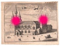MAASTRICHT EGLISE St SERVAIS  Gravure Originale Vers 1750  RARE - Documents Historiques