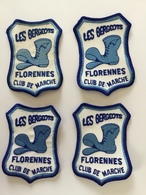 FLORENNES « Club De Marche  LES BERGEOTS Lot 4 écussons Brodé - Ecussons Tissu