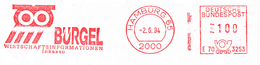 Freistempel 7841 Bürgel Inkasso Eule - Poststempel - Freistempel