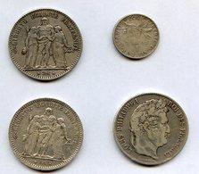 Lot Pieces En Argent Dont La Rarissime Semeuse De 1903 - France
