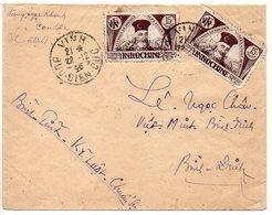 Viêt-Nam Du Nord (Vietnam) : Timbre D'Indochine Surchargé Sur Lettre Locale De VINH De 1946 - Viêt-Nam
