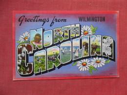 Greetings From  Wilmington - North Carolina    Ref 3530 - Wilmington