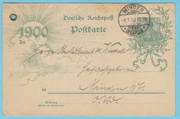 J.M. 29 - Deutschland - Umgepflanzts Ganzachen -33- Minden 1900 -Tanz Fest- Komponisten - Strauss - Schubert - Ziehrer.. - Entiers Postaux