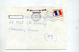 Lettre Franchise Militaire Flamme Muette Strasbourg Sur Drapeau + Regiment Genie - Marcophilie (Lettres)