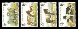 FALKLAND 1981 FARM ANIMALS CATTLE DOGS HORSES SHEEP SET MNH - Falkland Islands