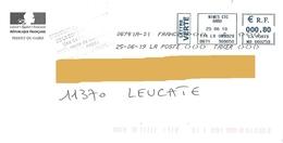 """Toshiba """"à Taxer"""" EMA MB 660259 Gard Enveloppe Préfet Du Gard Logo Marianne République - 1960-.... Covers & Documents"""