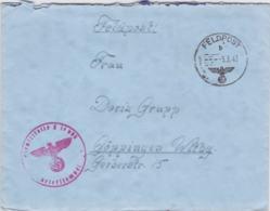 German Feldpost WW2: From Le Havre In France - 1. Batterie Leichte Flak-Abteilung 842 (v) FP L17895 LGPA Paris - Militaria