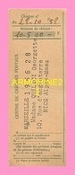 Talon De Mandat De Centre De Cheques Postaux MARSEILLE 1956 - Cheques & Traverler's Cheques