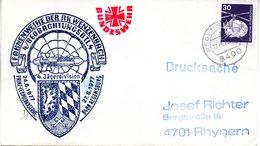 """(FC-3)BRD Cachetumschlag Bundeswehr""""FAHNENWEIHE DER RK WENZENBACH 4.BEOBACHTUNGSBTL."""" EF Mi 849 TSt 27.6.1977 REGENSBURG - BRD"""