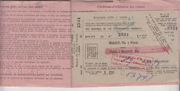 Biglietto Madrid P.pio / Vitoria E Ritorno 14/8/1961 - Europa