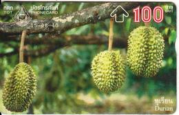 THAILAND(L&G) - Thai Fruit 1/Durian, TOT Telecard 100 Baht, CN : 745B, 08/97, Used - Thaïlande