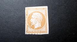 FRANCE 1853 N°13I OBL. LOSANGE PC 1530 (NAPOLÉON III. SECOND EMPIRE. 10C BISTRE. LÉGENDE EMPIRE FRANC. NON DENTELÉ. TYPE - 1853-1860 Napoléon III