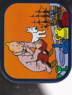 """Tintin -  """"Le Secret De La Licorne ) Boîte à Biscuit Delacre (grand Format) - Autres Collections"""