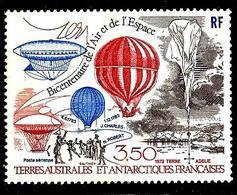 TERRES AUSTRALES 82° 3,50f Bicentenaire Des Premières Ascensions De L'homme Dans L'atmosphère (10% De La Cote + 0,15) - Tierras Australes Y Antárticas Francesas (TAAF)