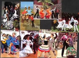 Lot 13 Cartes Espagne Costume Robe Fiesta Ballet... - Costumes