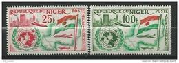 "Niger Aerien YT 19 & 20 (PA) "" Admission à L'ONU "" 1961 Neuf** - Niger (1960-...)"