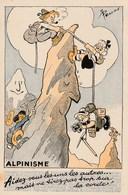 Carte Postale Illustrée Par Pellos - Humour - Sport - Alpinisme - Carte N°2 - Pellos