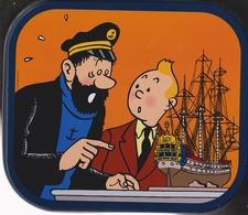 """Tintin -  """"Le Secret De La Licorne ) Boîte à Biscuit Delacre (grand Format) - Sonstige"""