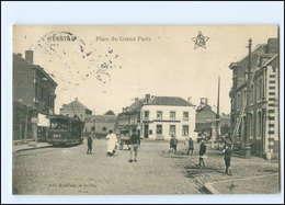 XX00891/ Herbstal  Place Du Grand Puits  Straßenbahn  Belgien AK 1914 - Belgien