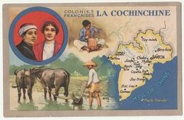 Colonies Françaises La Cochinchine, Saïgon, Produits Chimiques Lion Noir - Advertising