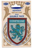 COMPIEGNE - Blason Adhésif Métallisé - Compiegne
