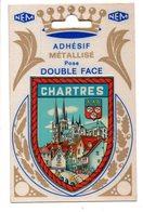 CHARTRES - Blason Adhésif Métallisé - Chartres