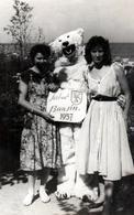 Photo Originale Déguisement & Eisbär, Ours Blanc Polaire Ravi, Coincé Entre Deux Pin-Up à Seebad Bansin 1957 - Anonymous Persons