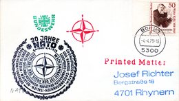 """(FC-3)BRD Cachetumschlag Bundeswehr""""30 JAHRE NATO-WACHSAMKEIT IST DER PREIS DER FREIHEIT"""" EF WB Mi 561 TSt 4.4.1979 BONN - BRD"""