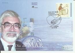 Portugal 1999 - Stationery Sea Day, Prof. Luiz Saldanha, Fdc - Postwaardestukken