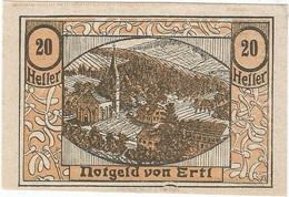 Austria (NOTGELD) 20 Heller Ertl 30-12-1920 Kon 185 A.2 UNC Ref 3537-1 - Austria
