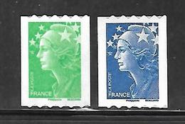 A332  Adhésifs Marianne De Beaujard Roulettes N°219 Et 221 N++ - Frankreich