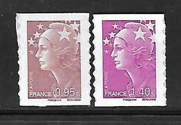A334  Adhésifs Marianne De Beaujard N°488 Et 490 N++ - Frankrijk