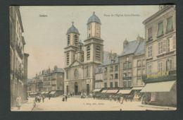 CPA  08  ARDENNES  -  SEDAN Place De L'Eglise Saint-Charles  (1922) - Sedan
