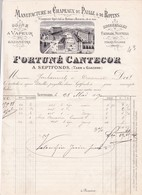 82-F.Cantecor..Manufacture De Chapeaux De Paille & De Rotins....Septfonds....(Tarn & Garonne)...1890 - Textile & Vestimentaire