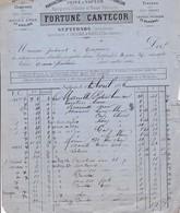 82-F.Cantecor..Manufacture De Chapeaux De Paille & De Rotins....Septfonds....(Tarn & Garonne)...1886 - Textile & Vestimentaire