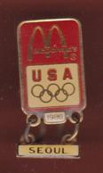 59485-Pin's.M'cdonalds USA 1988.Jeux Olympiques De Seoul. - Jeux Olympiques