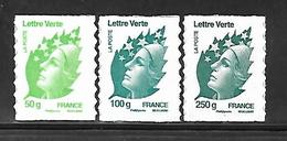 A336  Adhésifs Marianne De Beaujard N°605 , 606 Et 607 N++ - Luchtpost