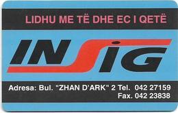 Albania - Albtelecom - Insig - ALB-05, 10.1996, 50Units, 100.000ex, Used - Albanië
