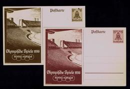 Sports Olympic Games Stadium BERLIN 1936 Postal Stationery (2x) Gc4049 - Summer 1936: Berlin