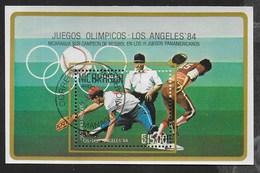 NICARAGUA - 1984 - GIOCHI OLIMPICI ESTIVI LOS ANGELES - BASEBALL - FOGLIETTO USATO (YVERT BF 167 - MICHEL BL 159) - Estate 1984: Los Angeles