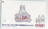 Télécarte Japon Boisson Eau Minérale (3) EVIAN * Water * France Related Japan Phonecard * Drink - Lebensmittel
