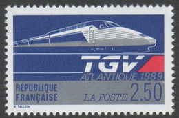 France Neuf Sans Charnière 1989 Train TGV Atlantique   YT 2607 - Nuovi