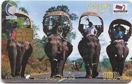 Laos - LTC - Elephants #1, 2002, 100Units, Used - Laos