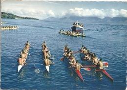 CPM Tahiti Départ D'une Course De Pirogues Doubles - Tahiti