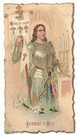 CHROMO JEANNE D'ARC DIEU LE VEUT IMAGE PIEUSE RELIGIEUSE HOLY CARD SANTINI HEILIG PRENTJE - Images Religieuses