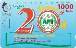 Laos - LTC (Tamura) - Apt 20th Anniversary, 1.000Units, Used - Laos